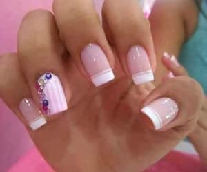 cristals, nails, and make up girls image