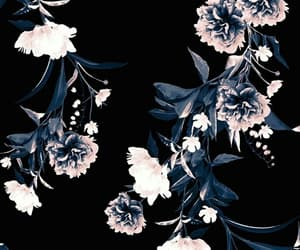 black, flowers, and wallpapers image
