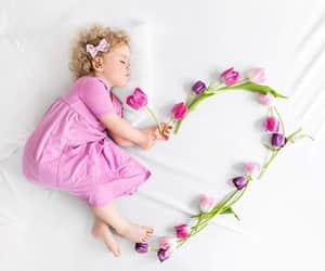 babies, flower, and ًورد image