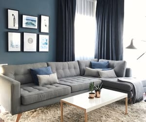 blue, desing, and living room image
