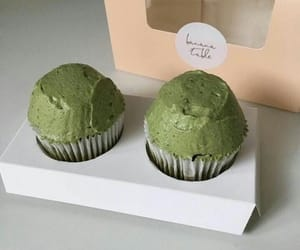 aesthetic, green, and cupcake image