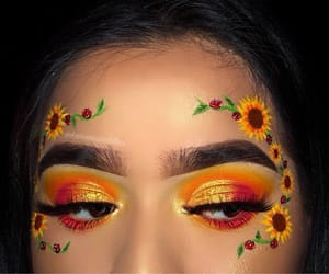 makeup, orange, and style image