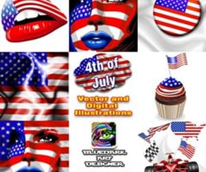 4th of july, usa flag, and design trends image