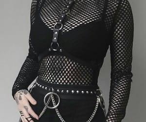 alternative, fashion, and fishnet image