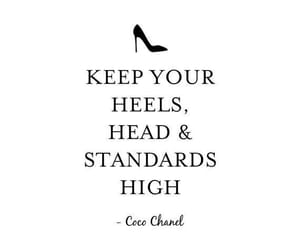 quotes, coco chanel, and heels image