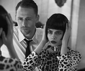 black and white, cara delevingne, and tom hiddleston image