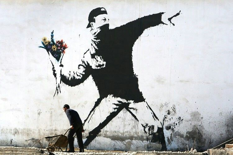article, BANKSY, and writing image