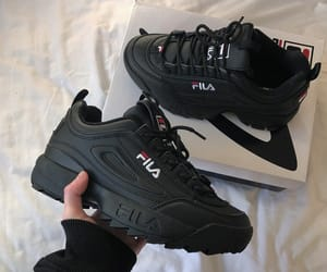 Fila, shoes, and black image