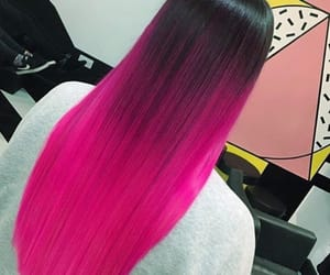 black, ombre, and fuxia image