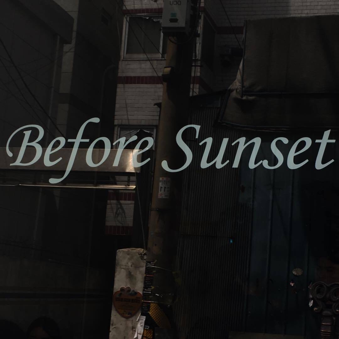 aesthetic, before sunset, and cafe image