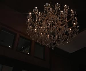 chandelier, Darkness, and demon image