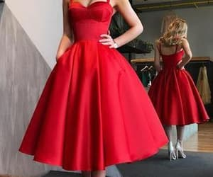 red, red wedding, and short party dress image