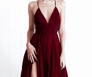 red, dress, and outfit image