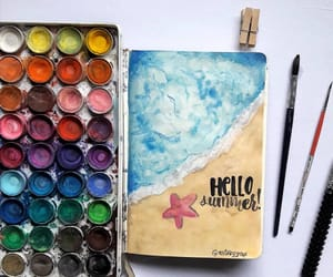 beach, creative, and journal image
