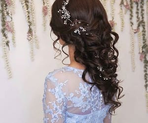 bride, coiffure, and curly image