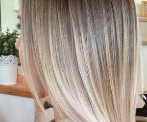 beautiful, hairstyle, and straight hair image