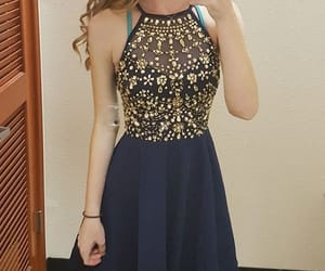 navy blue and navy blue dress image