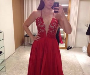 red, red wedding, and red dress image