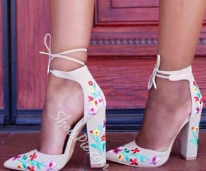 footwear, heels, and pink image