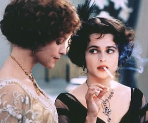 helena bonham carter and cigarette image