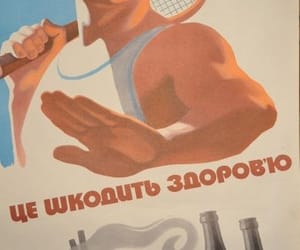 drugs, poster, and soviet image