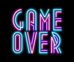 game, neon, and game over image