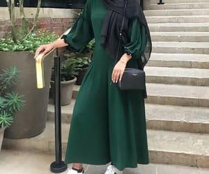 combi, fashion, and hijab image