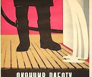 cleaning, soviet, and poster image