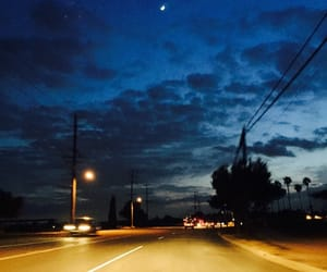 clouds, driving, and lights image
