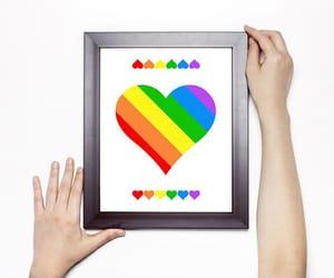 etsy, love art, and rainbow pride image