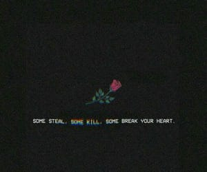 rose, broken, and heart image