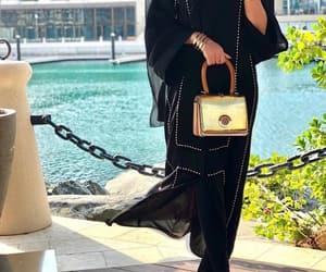 black, classy, and hijab image