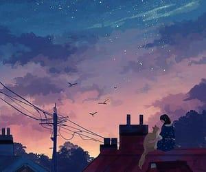 anime, girls, and wallpaper image