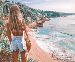 beach, hair, and tumblr image