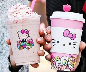 coffee, hello kitty, and japan image