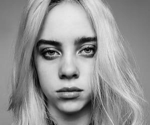 beautiful, blackandwhite, and girl image