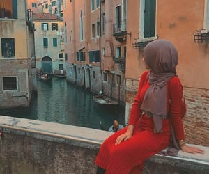 fashion, hijab, and travel image