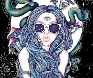 girl, psychedelic, and art image