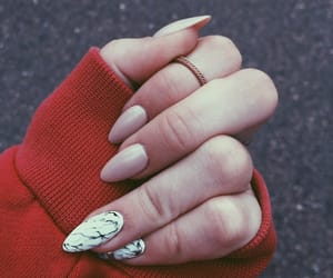 gel, long nails, and marble image