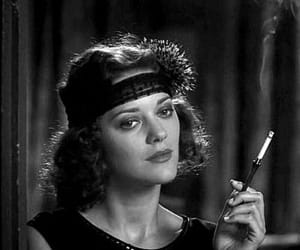 Marion Cotillard, midnight in paris, and black and white image