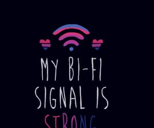 bisexual, lgbt community, and wifi image