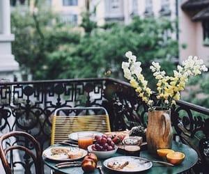 balcony, breakfast, and city image