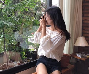 asian girl, casual, and cloth image