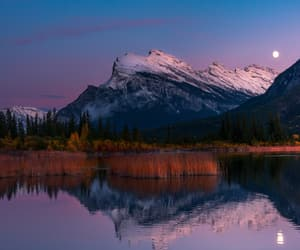 beautiful, moon, and mountains image