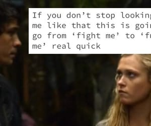 bob morley, love, and clarke griffin image