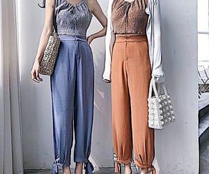 blue, fashion, and korean fashion image