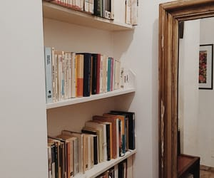 books, mirror, and booklover image
