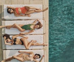girls, goals, and swimwear image