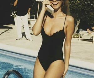 summer, swimsuit, and black image