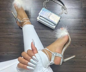 fashion, iridescent, and shoes image